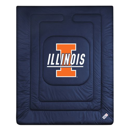 NCAA Illinois Fighting Illini Locker Room Comforter - Fighting Illini Room Locker Illinois