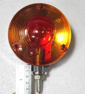Warning Hazard Indicator Lamp Light Amber Amber 12V Chrome Frame Tractor Truck trailer - 11002903