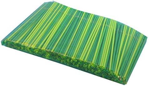 500 PLA Bio Trinkhalme Bio Strohhalme Bio Trinkröhrchen flexibel mit Knick aus Bio Kunststoff PLA grün Ø5mm 24cm lang