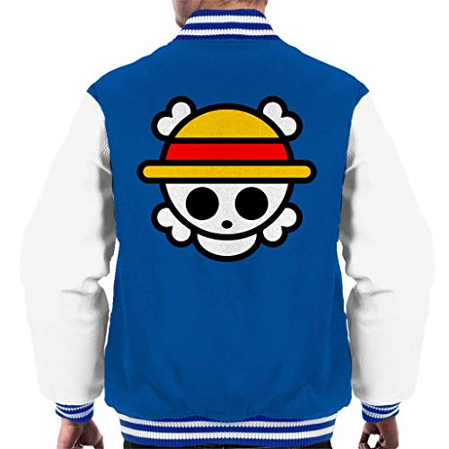 City City Men's Chibi White Cloud Cloud One Logo Piece Jacket Varsity 7 Royal dcqYwwfC