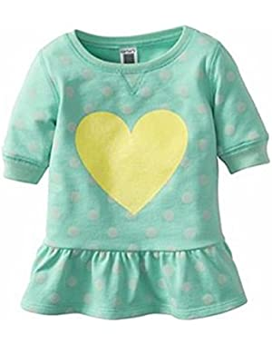 Baby Girl's Polka-Dot Heart Babydoll Top