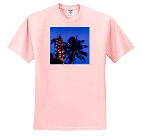 Danita Delimont - Vietnam - Vietnam, Hanoi. Tay HO, West Lake, Tran QUOC Pagoda, Dusk - T-Shirts - Toddler Light-Pink-T-Shirt (2T) (TS_257310_47)