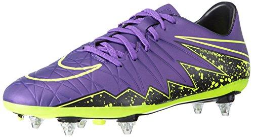 Nike Hypervenom Phelon II SG Botas de fútbol, Hombre Morado / Negro / Verde (Hyper Grape/Hypr Grape-Blk-Vlt)