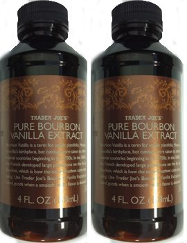 ((Pack of 2 - 4 OZ Bottles) Trader Joe's Pure Bourbon Vanilla Extract)