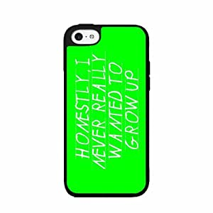 Never Wanted To Grow Up TPU RUBBER SILICONE Phone Case Back Cover iPhone 5c