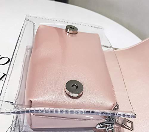 DESBLY219268 Rosa Sabarry Powder al Bolso Negro para hombro mujer Pink w8q80B4xH
