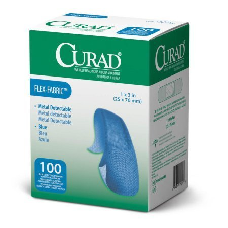 "Top trend Curad Metal Detectable, Blue, Flex-Fabric, "" Adhesive Bandages for Food Service ( )"