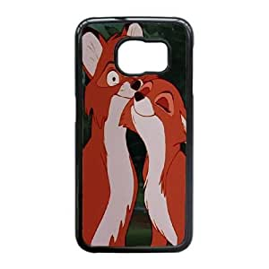 Personalized Durable Cases Samsung Galaxy S6 Edge Cell Phone Case Black Iiudy The Fox and the Hound Protection Cover