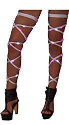 Light-up Leg Wraps With White & Pink Lights