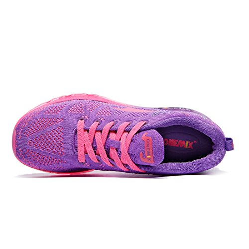 Onemix Libre Zapatos Y Rojo Asfalto Para En Exterior Zapatillas Correr Deportes Mujer Morado Running Aire De rHwxqrfFaB