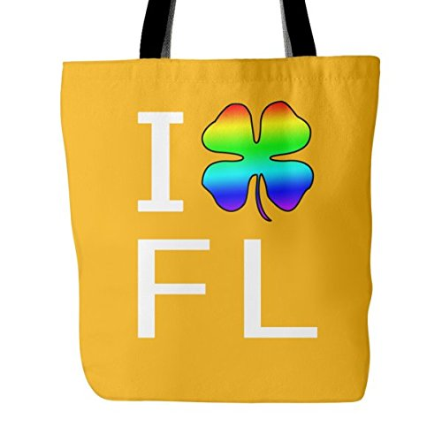 I Love Florida Saint Patrick's Day Support Pride Shamrock Funny Tote Bag - Fl Shopping Tallahassee
