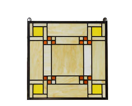 Prairie Style Panels - TMI Stained Glass Window Frank Lloyd Wright Panel Prairie Style 15.75