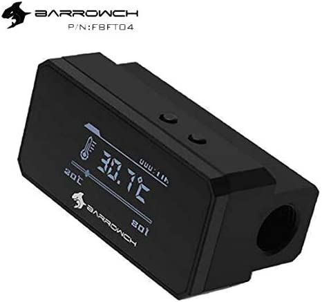 Intelligent Shutdowm Barrow FBFT04 Flow Meter con Display OLED Alarm Overheat