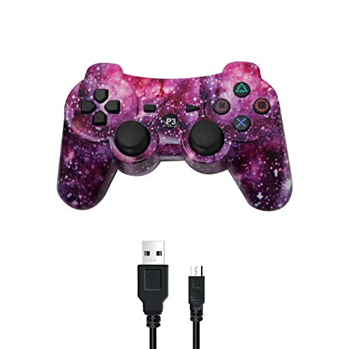 PUNING Wireless Controller for PS3 Witch Cable(Sky)