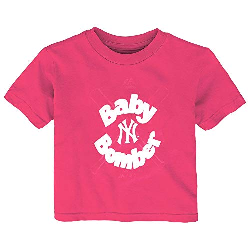 - Outerstuff New York Yankees Majestic MLB Infant Pink Baby Bomber Graphic T-Shirt