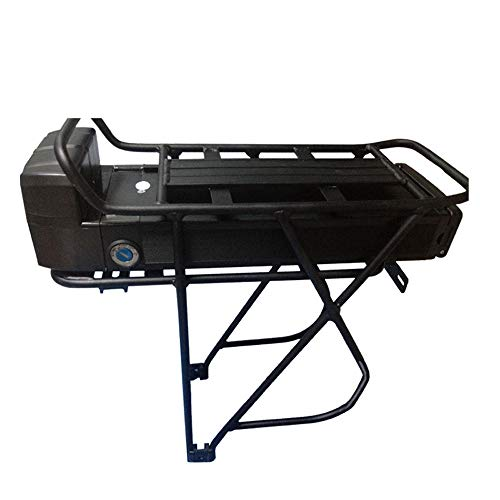 akonasda 36v 10AH Black E-Bike Battery Samsung Cell 250W 350W 500W EBike Li-ion Battery+Double Layer Luggage Rack