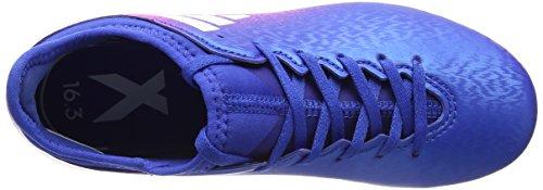 adidas X 16.3 Ag, Zapatillas de Fútbol Unisex Niños Azul (Blue/footwear White/sho Pink)