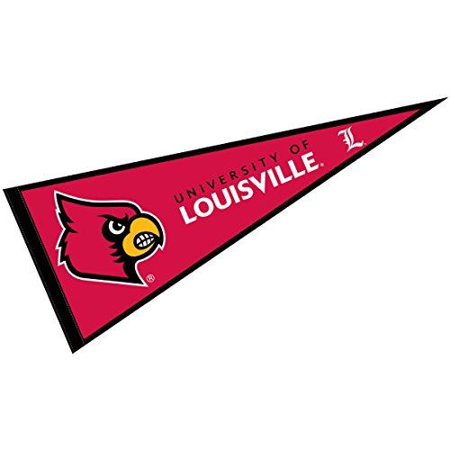 (College Flags and Banners Co. Louisville Cardinals Pennant Full Size Felt)
