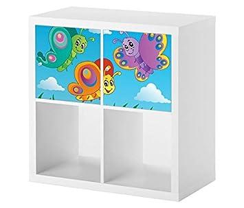 Möbelaufkleber Für Ikea Kallax 2x Türelemente Kinderzimmer