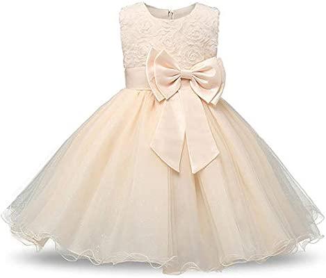 MezzenoGirl Flor Princesa Vestido de Fiesta Vestido de niña ...