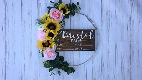Hospital Door Hanger - Floral - Sunflower - Baby Girl - Shabby Chic