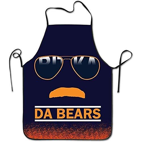 AfagaS Da Bears Chicago Windy City Mustache Glasses Machine Washable Durable String Apron for Women&Men -