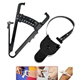 Health Care Skinfold Body Fat Caliper Body Fat Tester PLICOMETRO with Body Mass Tape with Measurement Chart Body Health Tool