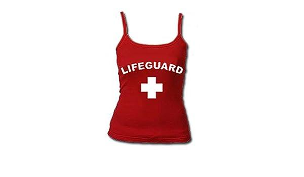 454f9f3576644 Amazon.com  Womens Red Lifeguard Tank Top-Large  Clothing