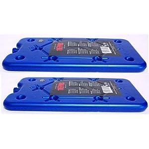 2 x Thermos Freezer Board GHIACCIO BORSA PICCOLO GHIACCIO BLOCCHETTO piatto VIAGGIO ghiaccio Confezione in scatola 200g 9 spesavip
