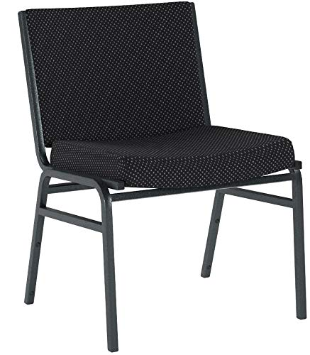 Flash Furniture 2 Pk. HERCULES Series Big & Tall 1000 lb. Rated Black Fabric Stack Chair