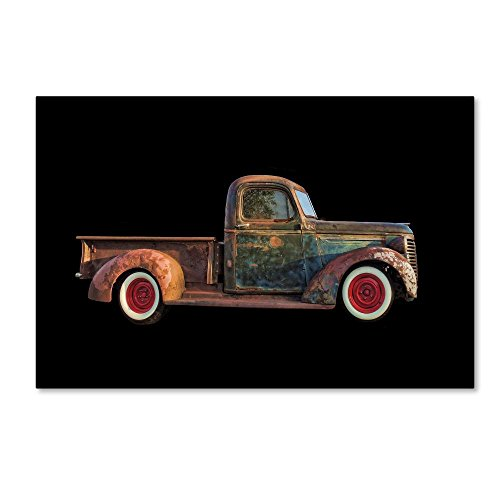 (Old Rusted Pickup by Lori Hutchison, 22x32-Inch Canvas Wall Art )