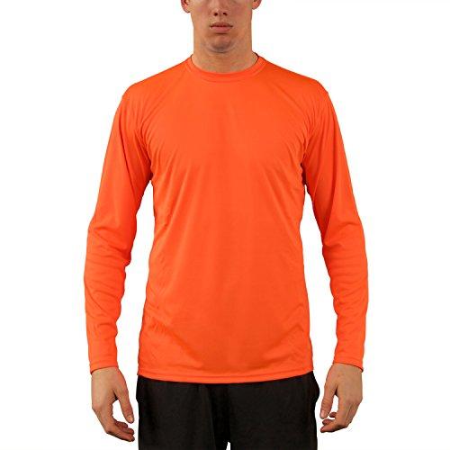 Orange Womens Cut T-shirt - Vapor Apparel Men's UPF 50+ Long Sleeve UV (Sun) Protection Performance T-Shirt Large Saftey Orange