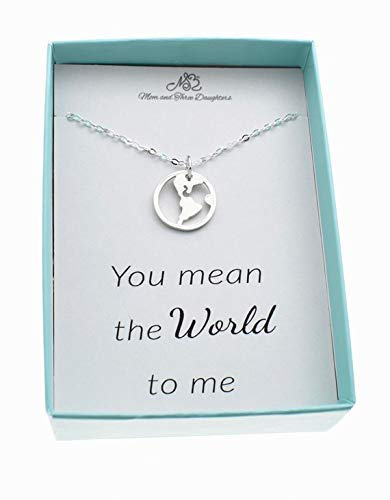 Girl's, Teen's, Woman's globe charm pendant on an 18