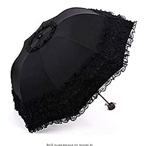 gesteh Travel Umbrella olding UV Resistance Princess Lace Parasol Umbrella Sun Umbrella for Women Girls