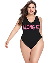 d930d14cff308 Women s Plus Size Swimwear with High Cut and Low Back One Piece Swimsuits  Bathing Suit for · ALONG FIT