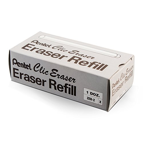 Pentel Refill Erasers for Clic Eraser, Contains 24 Erasers (ZER-2) by Pentel (Image #2)