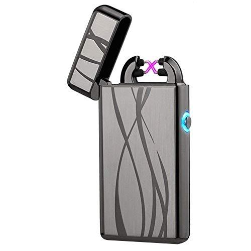 Arc Plasma Lighter Windproof Arc Lighters Flameless USB Lighter Rechargeable Electric Lighter lcfun Pulse Dual Arc Lighter -
