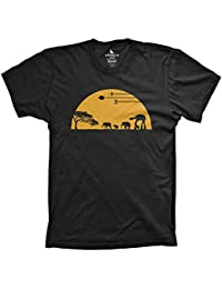 at-at Movie Shirts Funny Tshirts Graphic Space Black