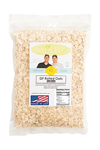 Oat Tops (Gluten Free Rolled Oats by Gerbs - 4 LBS - Top 11 Allergen Free & NON GMO - Country of Origin USA - Vegan &)