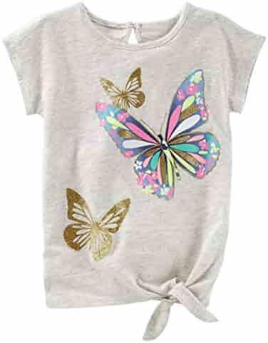 1012e2a8 OshKosh B'Gosh Baby Girls' Glitter Butterfly Tunic, 12-18 Months Gray