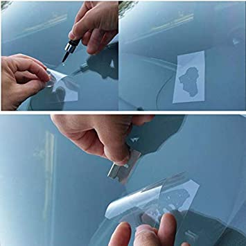 Professional Auto Glass Repair Accessories for Car Windshield Crack Crater Chip and Scratch Fixing cobcobb Windshield Repair Curing Films 20Pcs