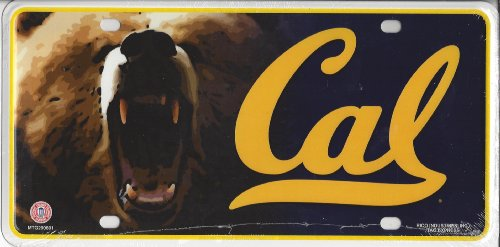 - NCAA California Golden Bears Metal License Plate Tag