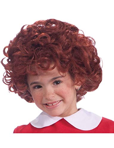 Orphan Annie Child's Kids Bright Red Curly Costume Dress Up Wig ()