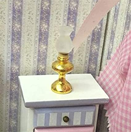1:12 Dollhouse Miniature Furniture Room Accessories Bedroom Metal Retro Lamp A