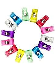 100pc / Box Medium Size Plastklipp Multicolor Syklipp Quilting Bindlingsklämmor För Hantverk, Virka Och Stickning - 3,3 X 1,8 Cm Plastklämma