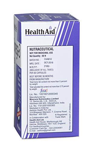 HealthAid Omega 3 750mg (EPA 425mg, DHA 325mg) - 60 Capsules