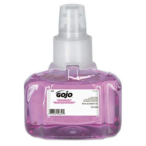 Gojo Ltx-7 Antibacterial Foam Handwash, Plum Fragrance, 700 Ml Handwash Refill For Gojo Ltx-7 Touch-Free Dispenser (Case Of 3) - 1312-03