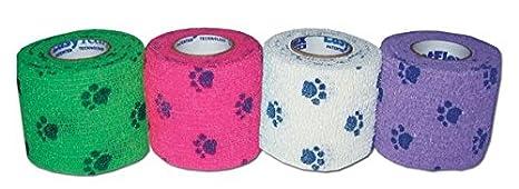 4/St/ück verschiedene Aufdrucke 7,5/cm f/ür Hund//Katze etc. Andover Healthcare Petflex Verband f/ür Haustiere