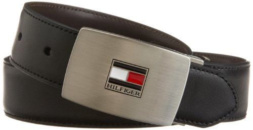 Tommy Hilfiger Men's Reversible Interchangeable-Buckle Belt Gift (Belt Set)