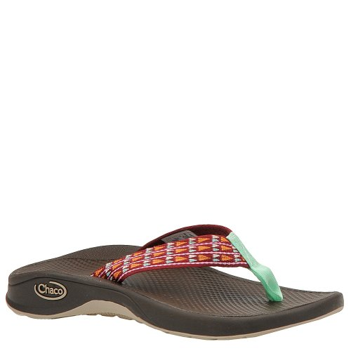 Chaco Girl's Bit-O-Flip Ecotread Sandals,Red,13 M Little Kid